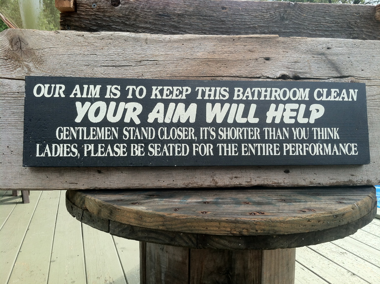 Bathroom Signs We Aim To Please our aim is to keep this bathroom clean. your aim will help. stand